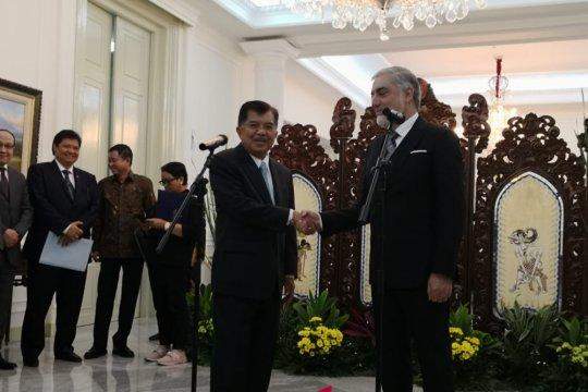 Wapres terima kunjungan kehormatan Kepala Eksekutif Afghanistan