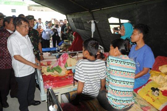 Pemerintah segera bangun barak pengungsi gempa