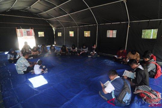 Tenda Unicef untuk sekolah rusak di Sigi didistribusikan