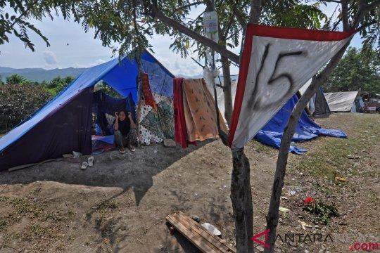 Pengungsi Jonoge masih bertahan di tenda