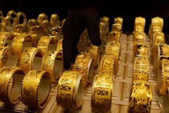Akhir pekan harga emas naik 0,33 persen