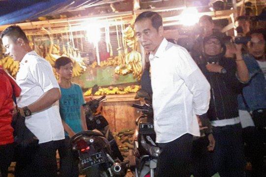 Presiden beli tempe di Pasar Bogor