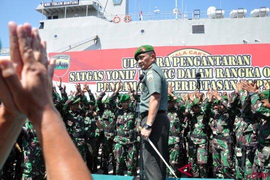 Pelepasan Pasukan Penjaga Perbatasan RI-PNG