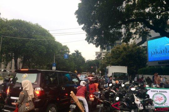 Jalan Medan Merdeka Selatan-Jalan Agus Salim macet