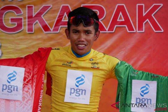Novardianto juarai etape I Tour de Singkarak 2018
