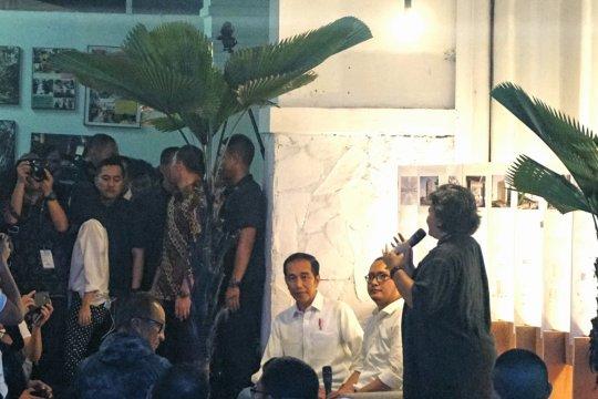 Jokowi menemui masyarakat kreatif di Bandung