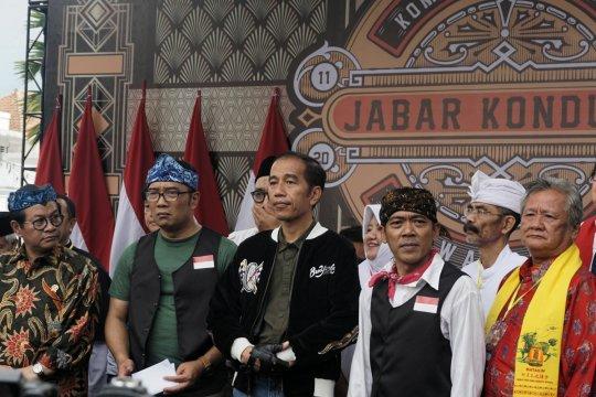 Jokowi saksikan deklarasi Jawa Barat Kondusif