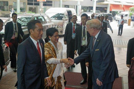 Presiden tiba di Singapura
