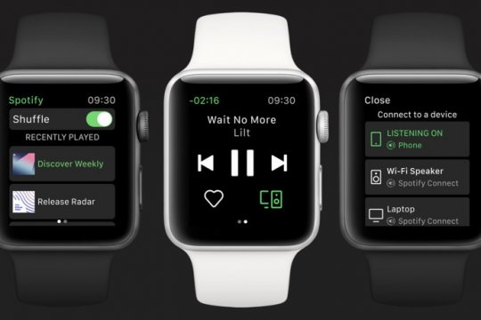 Spotify resmi mendarat di Apple Watch