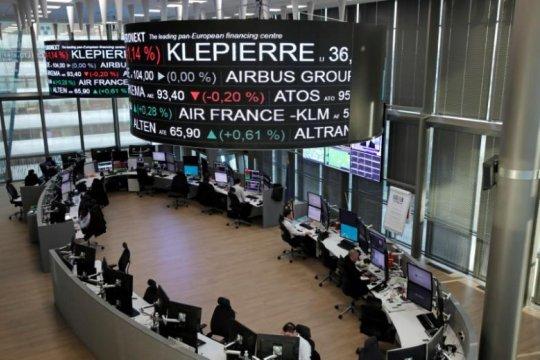 Bursa saham Prancis menguat, Indeks CAC-40 berakhir naik 32,29 poin