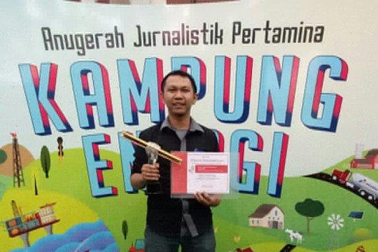 Afut Syafril jurnalis LKBN Antara sabet penghargaan Anugerah Jurnalistik Pertamina 2018