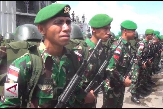 Gubernur Sultra lepas 450 prajurit Satgas Pamtas RI-PNG
