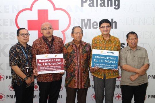 Rajawali Serahkan Bantuan bagi Korban Gempa Sulteng