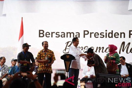 Petani Lampung diskusi dengan Presiden