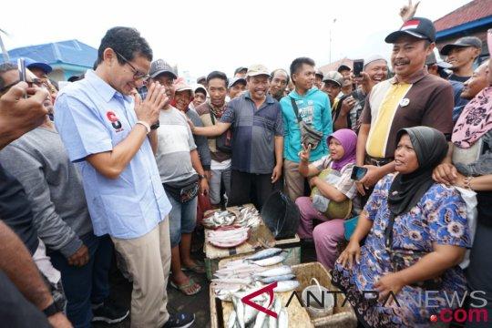 Sandiaga Uno tidak mau dibenturkan dengan Susi Pudjiastuti, serap aspirasi nelayan,