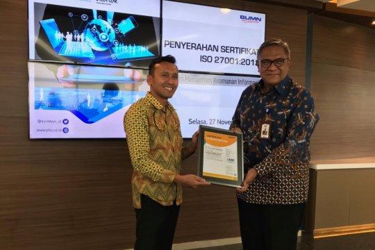Surveyor Indonesia raih sertifikat ISO 27001