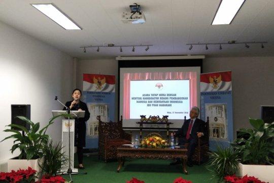 Puan Sampaikan Kesuksesan Asian Games kepada WNI di Wina