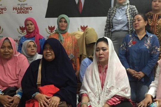 Titiek minta tim pemenangan sosialisasi visi misi Prabowo-Sandi