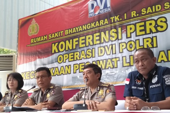 Tim Inafis identifikasi 38 sidik jari korban Lion Air