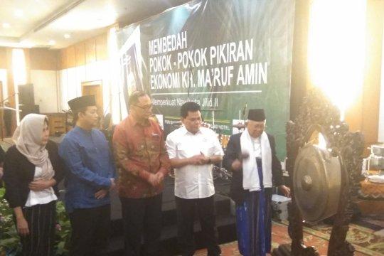 Ma'ruf Amin hadiri peluncuran buku Arus Baru Ekonomi Indonesia