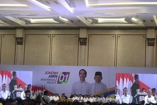 Jokowi disambut ribuan pendukung di Palembang