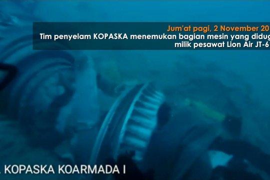 Mesin Lion Air JT 610 ditemukan