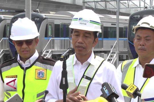 Presiden minta MRT terintegrasi transportasi umum lain