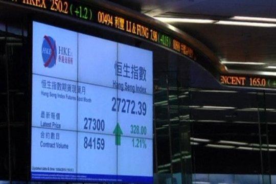 Saham Hong Kong naik 3 hari beruntun, Indeks HSI terangkat 0,39 persen