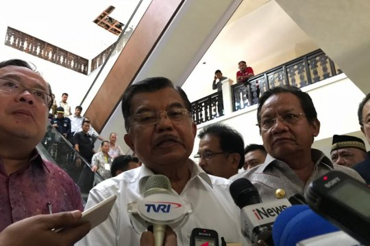Wapres JK semangati relawan PMI di Palu