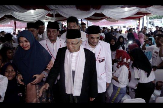 Ma'ruf Amin bilang masih ada yang tidak mau melihat prestasi Jokowi