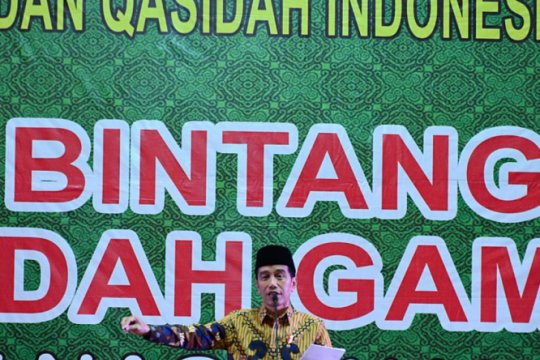 Presiden gaungkan optimisme pada akhir festival kasidah