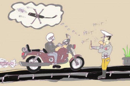Polda Metro gelar razia knalpot bising di Monas dan Sudirman-Thamrin