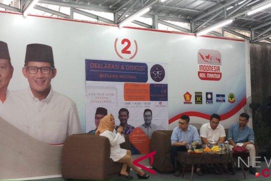 BPN Prabowo-Sandi: Milenial berperan bagi pembangunan 5-20 kedepan