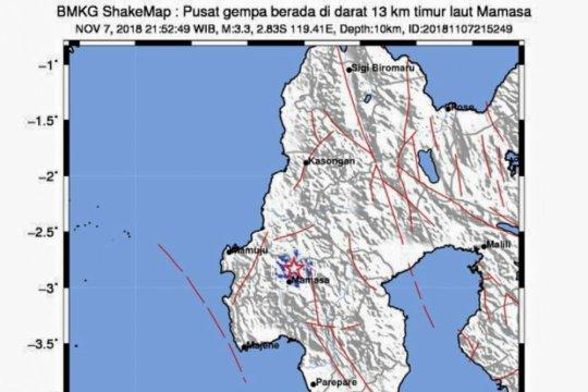 Serangkaian gempa guncang Mamasa