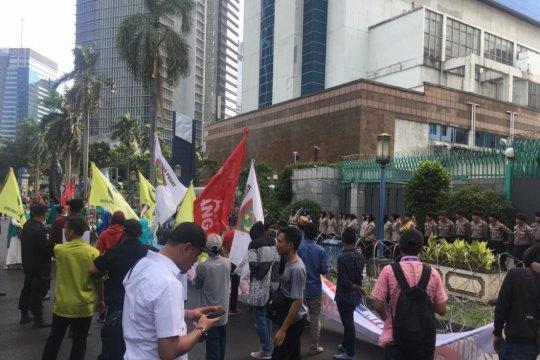 Massa kembali berunjuk rasa depan Kedubes China dukung Uighur