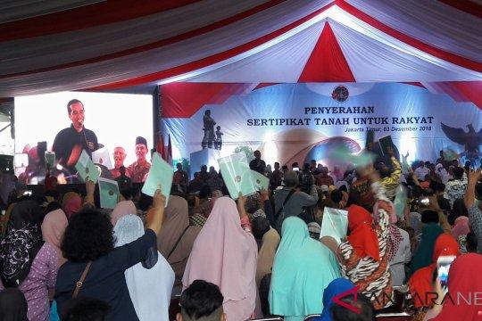 Pemerintah serahkan 5 ribu sertifikat tanah untuk rakyat di Jakarta Timur
