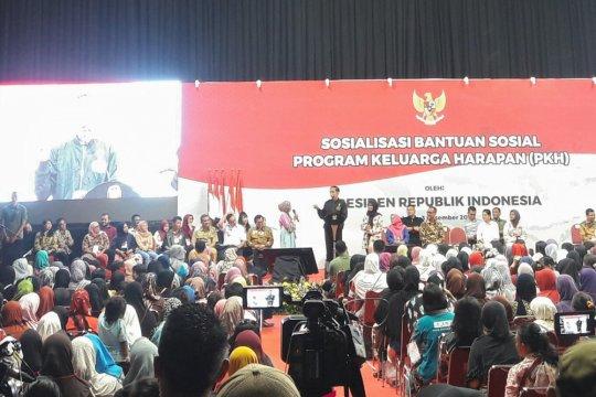 Presiden Jokowi ingatkan pemanfaatan kesejahteraan dalam Sosialisasi PKH 2019