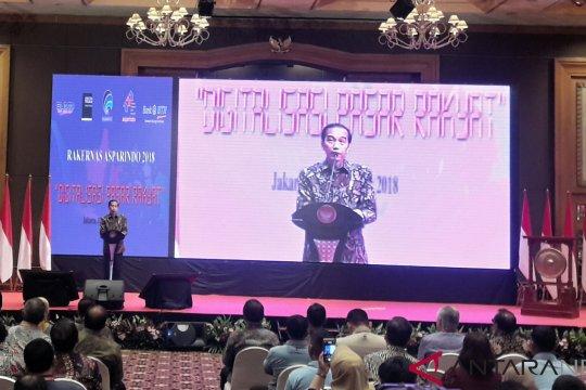 Presiden arahkan pembangunan pasar rakyat saat peresmian Rakernas Asparindo 2018