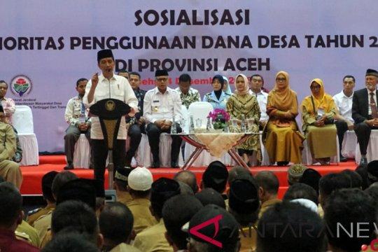 Presiden ingatkan warga Aceh agar gunakan dana desa sesuai kebutuhan