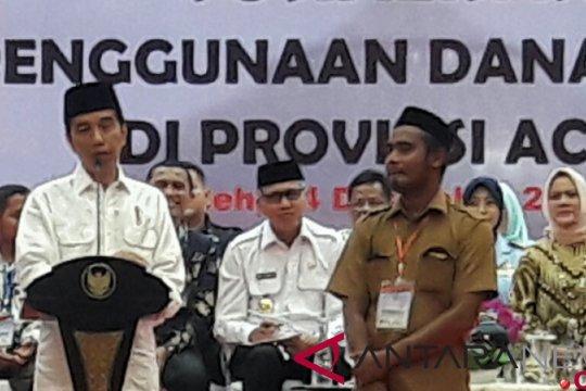 Presiden puji rencana keuchik di Aceh bangun desa