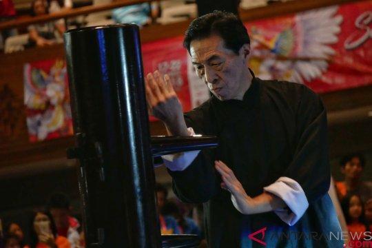 Grandmaster Samuel Kwok semangati peserta kejuaraan kungfu Bali Internasional 2018