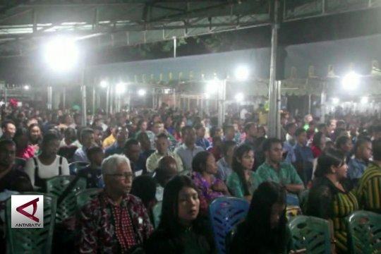 Ribuan orang ikuti misa Natal di Jayapura
