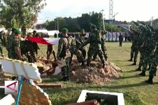 Pemakaman Sertu Handoko korban penembakan KKSB Papua