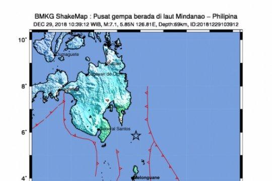 Warga Sangihe-Talaud dan Manado-Sulut rasakan gempa Davao-Filipina