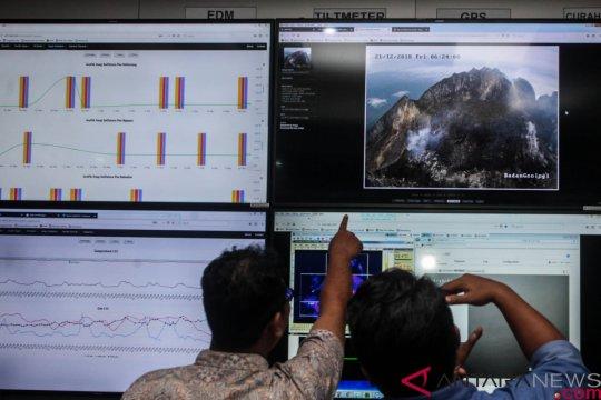 Gunung Merapi meluncurkan empat kali guguran lava