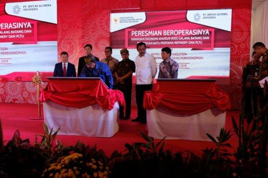 Menko Perekonomian resmikan KEK Galang Batang