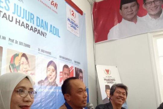 Seknas Prabowo-Sandiaga: tercecernya KTP elektronik timbulkan kecurigaan publik
