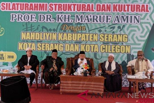Cawapres Ma'ruf ajak kiai Banten kembali mengingat sejarah bangsa