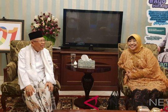 Ma'ruf Amin terima kunjungan adik Gus Dur