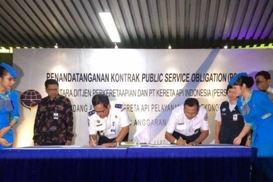 Kemenhub-KAI tandatangani kontrak PSO Rp2,4 triliun
